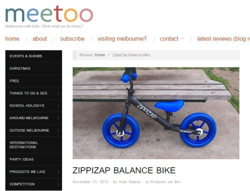 Mee Too: Zippizap Balance Bike Review